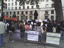 The protest on Richmond Terrace