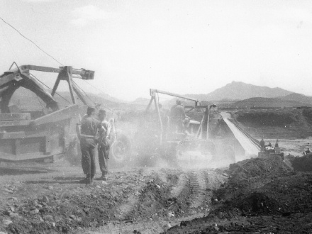 Pintail bridge under construction, 1951