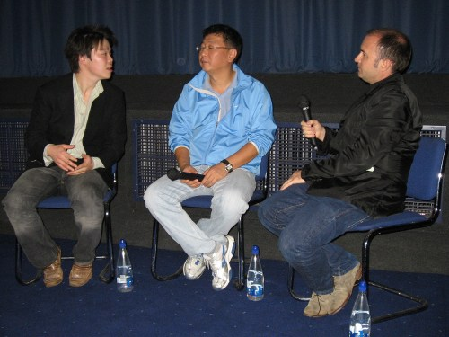 Kwak Kyung Taek (centre) and Roger Clark (right)