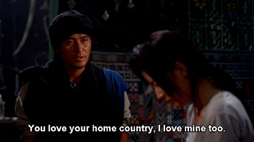 You love your country