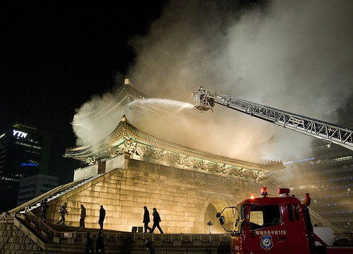 Namdaemun burns