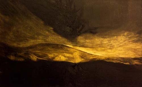 Francesca Cho: Gold Tree (2006) Oil on canvas, 41 x 66 cm