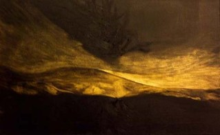 Francesca Cho: Gold Tree, 2006. Oil on canvas, 41 x 66 cm