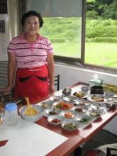Kim Ok Ja in her restaurant
