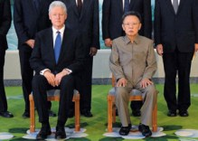 Bill Clinton with Kim Jong-il