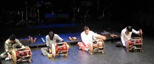 Gong Myoung play janggu