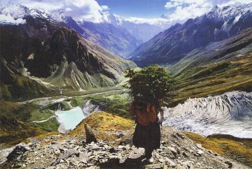 Park Jong-woo: Manaslu Glacier, Manaslu Himal, Nepal, 1999 60x40cm
