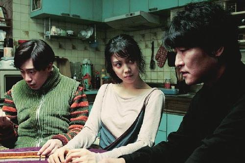 Shin Ha-kyun, Kim Ok-bin and Song Kang-ho play mah-jongg