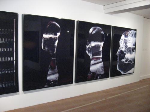Atta Kim: Monologue of Ice: Portrait of Mao (2006), installation view