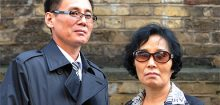 Jung Guang-il, left, and Lee Ok-suk. Photo Chris Harris / The Times. Click on image for full size version on Times website