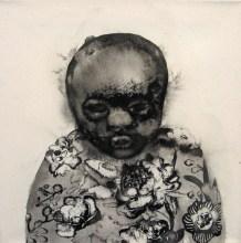 Yoo Junghyun: Face 23  (Acrylic on canvas)