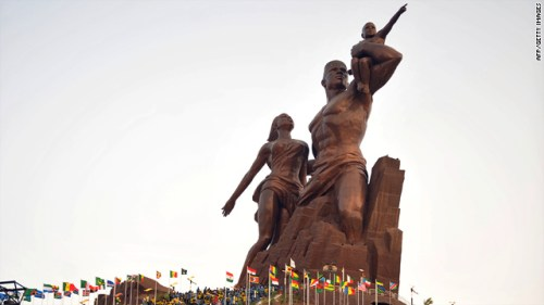 DPRK Senegal statue. Photo:AFP/Getty