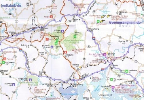 Jirisan map