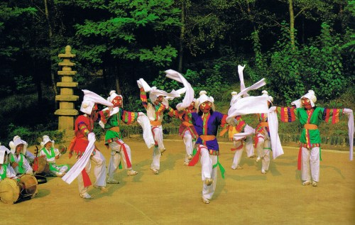 Dance of 8 monks
