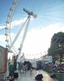 Breakout, the stage show with b-boys, staged in the shadow of the London Eye