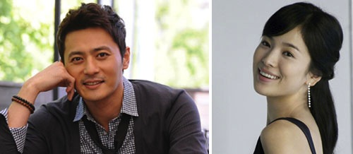 Jang Dong-gun (left) and Song Hye-kyo