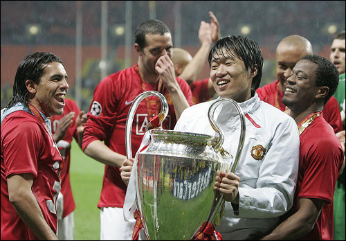 Park lifts the Champions League cup