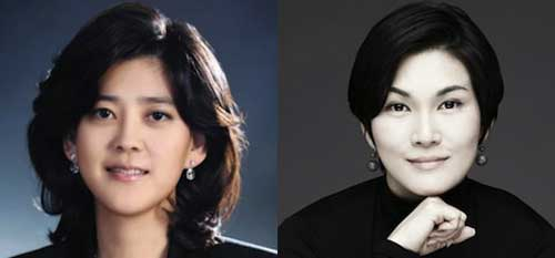 Daughters Lee Boo-jin (left) and Lee Seo-hyun
