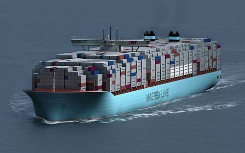 The new Maersk Triple E container ship