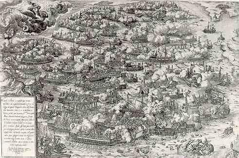 Battle of Lepanto by Martin Rota, 1571