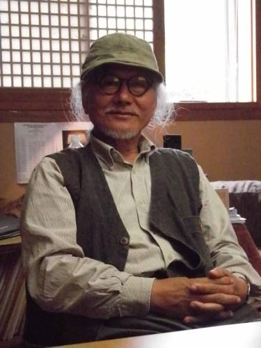 Mr Baek Un-cheol, honorary director of Jeju Stone Park