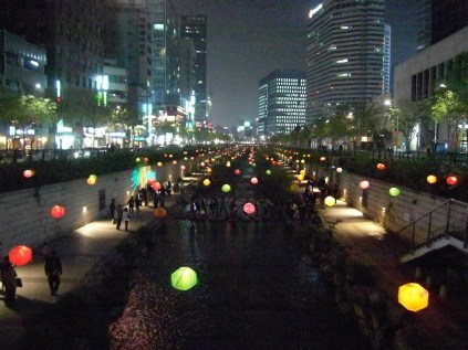 Lanterns on the Cheonggyecheon, 7 May 2011