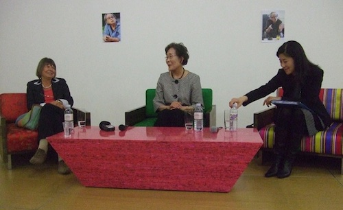 L to R: Margaret Drabble, Agnita Tennant and Sowon Park