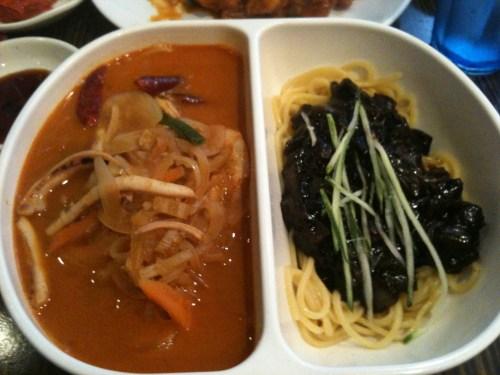 Half-half Noodle (Jja-jang-myun & Jjam-bong) at Shanghai Mong in 32nd Street