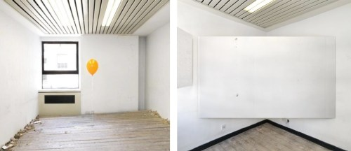 Installations by Shan Hur (Left) and Soon-Hak Kwon (Right)