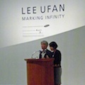 Thumbnail for post: Lee Ufan at the opening of Marking Infinity