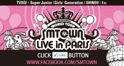The Facebook page for the Paris K-pop concert this week