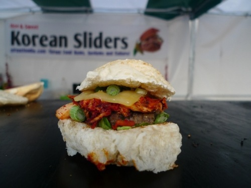 A kimchi slider from StreetFoodie.com