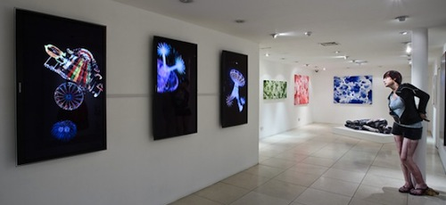 Installation view of Embracing the Void