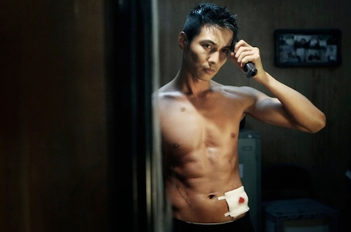 Won Bin gets ready for action