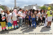 The K-pop flashmob in Trafalgar Square