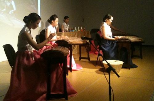 Sooeun Kwak with the La-on G gayageum ensemble at the KCC