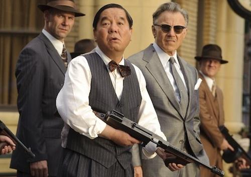 Shim Hyung-rae with Harvey Keitel in the slapstick Last Godfather