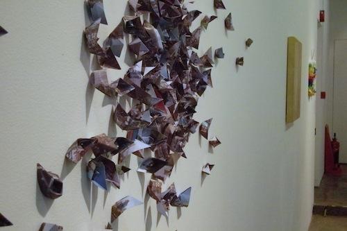Joon Hwan Lim: Cultural Flows (2011). Printed paper, dimensions variable