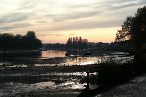 The Thames at Chiswick Mall, 26 December 2010