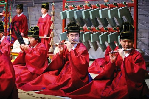 Performers at the Jongmyo rituals