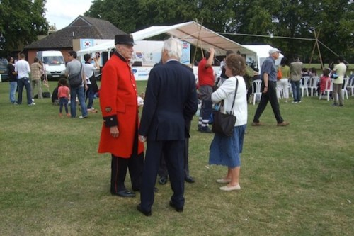 A Korean war veteran, now a Chelsea pensioner, at the Korean festival at Kingston