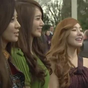 SNSD members YoonA, Seohyun and Tiffany