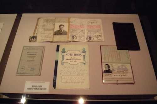 Yun Isang's South Korean and German passports