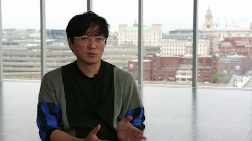 Sung Hwan Kim being interviewed for the Tate Modern