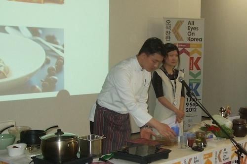 Master Chef Tony Joo at work