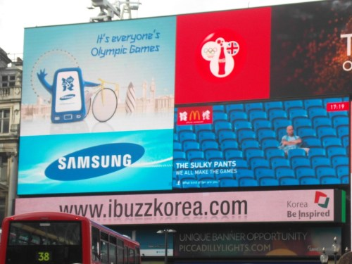 KTO advertisement at Piccadilly Circus