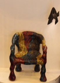 A chair made out of cloth and resin by Fabrikr