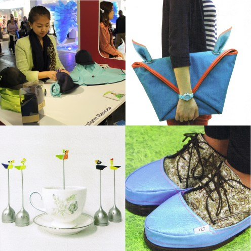 The Transform Raincap, the Picnicking bag of London, the Splash Spat and the Sot Dae infuser