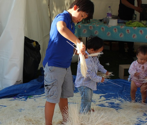 Thames Festival - playing with noodles