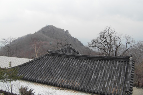 A shoulder of Jirisan viewed from Beopgyesa